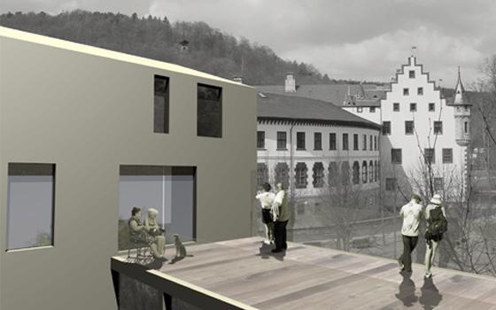 wohnen am schlo meiningen pussert und kosch architekten. Black Bedroom Furniture Sets. Home Design Ideas